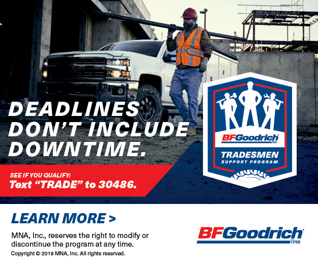 New BFGoodrich Tire Program For Tradespeople