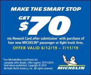 Michelin $70 Reward Card Offer